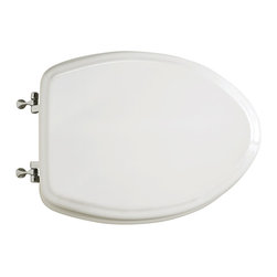 American Standard - Standard Collection Elongated Closed Front Toilet Seat in White - American Standard 5725.064.020 Standard Collection Elongated Closed Front Toilet Seat in White.