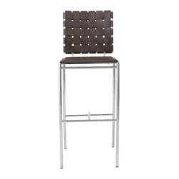 Eurostyle - Carina-B Bar Chair (Set Of 2)-Brn - These sleek bar chairs will have your guests feeling like you brought the lounge to them. And once they experience the inviting seating area and supple backrest, you might have to start charging a cover.