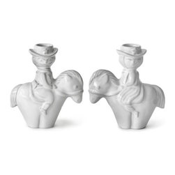 Jonathan Adler Utopia Cowboy Candleholder - Why? Because they are hilarious and unique. These chubby  cowboy candleholders are contemporary kitschy tchotchkes and they make no apologies for it.