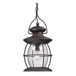 ELK Lighting - ELK Lighting 47043/1 Village Lantern Charcoal Outdoor Hanging Lantern - ELK Lighting 47043/1 Village Lantern Charcoal Outdoor Hanging Lantern