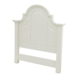 EuroLux Home - New Twin Bed White/Cream Painted Hardwood - Product Details