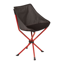 """Picnic Time - PT-Odyssey Portable Chair, Black - The PT-Odyssey Chair by Picnic Time is a portable, folding chair you can take anywhere. The chair opens to 20"""" wide x 14"""" deep x 30"""" high with a seat height of 15"""" and a contoured design that provides comfort and support you won't get in a backless chair. The PT-Odyssey Chair can be used for tailgating, concerts in the park, spectator sports, and camping. It's so compact and convenient, you may want to store it in the truck of your car so it s available wherever your travels take you!"""