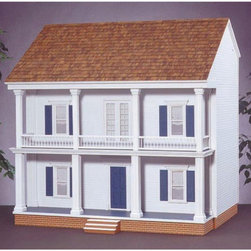 Real Good Toys - Real Good Toys Mulberry Dollhouse Kit - 1 Inch Scale - 1201-MM - Shop for Dollhouses and Dollhouse Furnishings from Hayneedle.com! Sure to become the belle of your collection the Real Good Toys Mulberry Dollhouse Kit - 1-Inch Scale offers timeless Southern appeal. This charming Georgian estate with 10 impressive rooms makes an ideal gathering place for your figurines with a remarkable 9.438-inch floor-to-ceiling height. It will take approximately 30 hours to assemble and finish. This house comes to you unfurnished. A bundle of smooth wooden brick is included for finishing the foundation. This traditional 3-story house is available in two different durable construction options. Choose between milled plywood and MDF wall finishes. The New Concept Collection Staircase and other exceptional details reflect the uncompromising craftsmanship that went into the creation of this model. It features pre-assembled windows and doors moveable room dividers wooden shingles and sturdy 0.375-inch exterior walls and grooved sidewalls. Recommended supplies include a hammer glue masking tape sandpaper paint brushes ruler and brads. This exquisite kit is suitable for use by collectors. As it includes small pieces it's not recommended for children under the age of 3. About Real Good ToysBased in Barre Vt. Real Good Toys has been hand-crafting miniature homes since 1973. By designing and engineering the world's best and easiest to assemble miniature homes Real Good Toys makes dreams come true. Their commitment to exceptional detail the highest level of quality and ease of assembly make them one of the most recommended names in dollhouses. Real Good dollhouses make priceless gifts to pass on to your children and your children's children for years to come.
