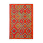 Prater Mills Indoor/Outdoor Reversible Orange/Purple Rug - I love everything about this rug. The color and style are perfect. Plus, it's reversible!