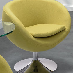 Zuo Modern - Arm Chair with Chrome Base - Swivel base. Soft wool-like texture of the fabric. Warranty: One year limited. Made from chromed steel. Pistachio green color. Assembly required. Seat Width: 17.3 in.. Seat Depth: 16 in.. Seat Height: 19 in.. Overall: 28.3 in. W x 24.8 in. D x 29 in. H (48.4 lbs.)The Lund Chair takes its inspiration from modern European design and mixes it with American details.