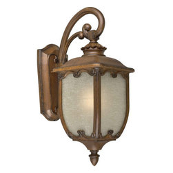 Forte Lighting - Forte Lighting 1818-01 Single Light Outdoor Wall Sconce with Glass Panels - Traditional / Classic Outdoor Wall Sconce