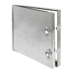 "Best Access Doors - Hinged Duct Access Door, Galvanized Steel, 18""x18"" - 18"" x 18"" Hinged Duct Access Panel   Best Access Doors Duct Access Panels are designed to provide convenient, economical access to duct components. The insulated door panel, along with the gasketing between the door and frame assures a tight seal without obstruction in the air system. Duct access panels from Best Access Doors are available in either hinged - or double cam - construction.      -   Application    - Assures a tight seal without obstruction in the air system   Product Features   - Insulated door panel, along with the gasketing between the door and frame- 5/8"" notched knock over tabs on the inside of the frame provides for easy installation- These doors are designed for use in LOW to medium pressure up to 3"" static W.G.   BA-HD-5070 Duct Access Door Speci?�cations:    - Material: 24 gauge galvanized steel- Insulation: Door panel filled with 2"" fibreglass insulation (7.7 R factor), compressed into 1"".- Hinge: Continuos aluminum piano hinge- Latch: Self tightening, hand operated cam latch- Gasketing: 1/8"" thick by 1/2"" wide closed cell neoprene gasketing between door and frame and also between frame and duct- Packaging: Individually wrapped, 1 per box"