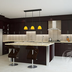 FX Cabinets Warehouse Century City - Century City Cabinets German beech wood cabinets with dark ...