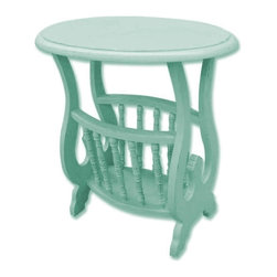 EuroLux Home - New Magazine Table Blue Painted Hardwood - Product Details