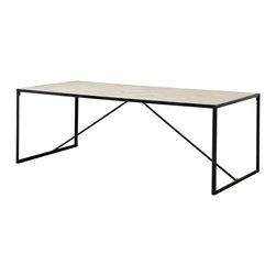 Eichholtz Oroa - Dining Table Parquette, Bleached Oak - Bleached oak wood and zinc