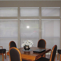 Window Treatments - Hunter Douglas Silhouettes installed by Kite's Interiors