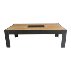 Moe's Home Collection - Moe's Home Bolt Rectangular Coffee Table - Industrial style coffee table
