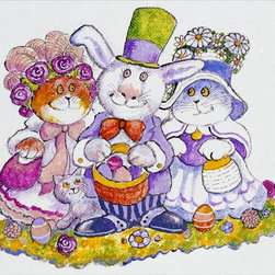 Murals Your Way - Easter Bunny Wall Art - Painted by Bill Bell, the Easter Bunny wall mural from Murals Your Way will add a distinctive touch to any room