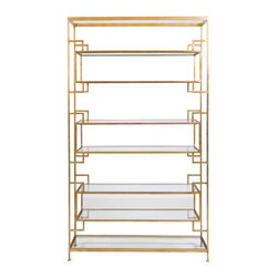 worlds away - Lamar Gold Leafed Etagere by Worlds Away - Lamar Gold Leafed Etagere
