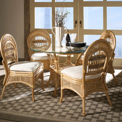 Rattan Dining Set: Tropical Breeze - Tropical Breeze Armless Rattan Dining Set Benefits: