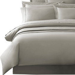 Luxor Linens - Delano Organic Luxury Shams, European, Gray - The Delano Organic Bedding by Luxor Linens is superbly crafted from Bamboo and organic cotton to a smooth heavenly finish. Renowned for its supreme softness Bamboo also acts as a natural antibacterial ensuring your bed is the ultimate sanctuary. Imported.