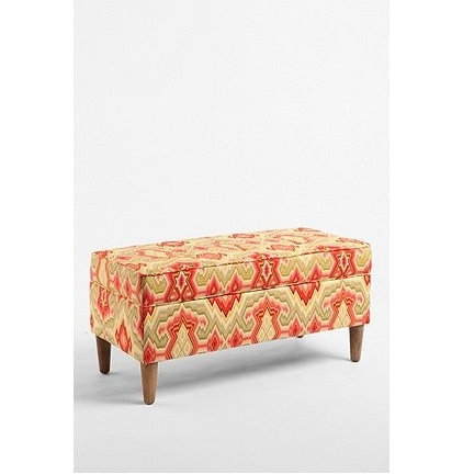 eclectic bedroom benches by Urban Outfitters