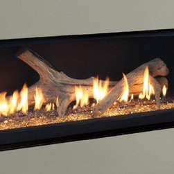 """Majestic WDV Echelon Series 46'' x 36'' DV Gas Fireplace System - Spacious viewing area — Echelon fireplaces offer incredibly wide viewing area in a compact space. Both models feature ceramic glass with a convenient quick latch design, while the 60"""" model adds anti-reflective protection to minimize glare."""