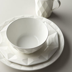 """kate spade new york - kate spade new york Red """"Castle Peak"""" Mug - Valleys and peaks give this casual, contemporary dinnerware from kate spade new york dimension and texture. Made of stoneware. Microwave and dishwasher safe. Four-piece place setting includes dinner plate, salad plate, bowl, and mug, Available in Cre..."""