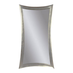Bassett Mirror Company - Bassett Mirror Contempo Hour-Glass Shaped Leaner Mirror in Silver Leaf - Hour-Glass Shaped Leaner Mirror in Silver Leaf belongs to Contempo Collection by Bassett Mirror Company Bassett Mirror is fluent in this art, showing a terrific contemporary furniture that will satisfy on the one hand fans of home coziness, and on the other hand - seekers of non-standard design solutions also. One of the many strengths of the Bassett Mirror is using high quality materials for perfect embodiment of brilliant design ideas. Mirror (1)