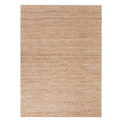 Jaipur Rugs - Natural Solid Pattern Jute/Cotton Beige /Brown Rug - HM05, 8x10 - Handwoven in Jute and soft fibers and materials like; Chenille, rayon yarn and cotton, the Himalaya collection has a variety of textures and looks, all at home in a variety of living environments.