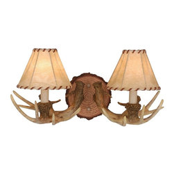 Vaxcel Lighting - Vaxcel Lighting WL33042NS Lodge Traditional Wall Sconce - Created from faux rustic materials to form a realistic lodge motif.