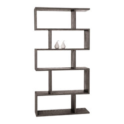Carmine Bookshelf, Gray Limed Oak By Arteriors