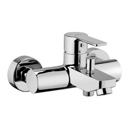 WS Bath Collections - Red Bath/Shower Mixer - Red by WS Bath Collections, Concealed Shower Mixer with Diverter, in Polished Chrome Finish, Solid Brass Base, Wall-Mounted Installation Single Lever Controls Flow Rate and Temperature Push Button Diverter, Made in Italy