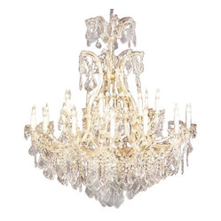 "CHANDELIER CRYSTAL LIGHTING 46X52 H52"" X W46"""