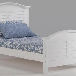 Night and Day Sandpiper Bed in White - Basic P-Series Footboard