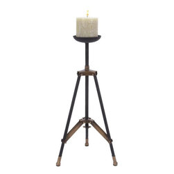 Benzara - Metal Candle Holder Designed As A Tripod Stand - Delight the spaces with dancing lights. 51631 Metal Candle Holder is an excellent anytime low priced decor upgrade option with great utility for everyone. It is designed as a tripod stand that can be conveniently placed in corner of room.