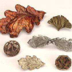 Lodge & Nature Hardware - Oak Leaf Bin Pull, Oak Leaf Pull ...
