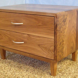 2 Drawer Danish Modern Nightstands - Danish Modern Nightstand (Item # 2D632)