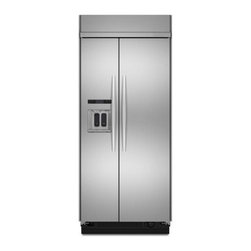 "KitchenAid - Architect Series II KSSC36QTS 36"" 20.9 cu. ft. Capacity Side by Side Refrigerato - Thoughtful design to match your discerning taste An integrated and flush ice and water dispenser provides a visually pleasing integrated look in your kitchen"