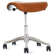 Modern Task Chairs Freedom® Saddle Seat in Prima Leather