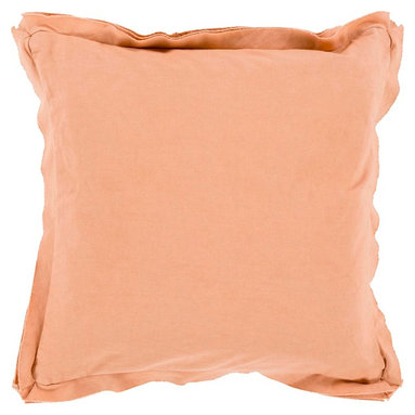 """Surya - Surya TF-003 Simple Sophistication Pillow, 18"""" x 18"""", Poly Fiber Filler - Fill your room with cool, calming comfort with these vibrant pillows! Featuring a burst of charming color in perfect peach, this piece will fashion a look that is both functional from space to space as well as aesthetically pleasing to all who it encounters. This pillow contains a zipper closure and provides a reliable and affordable solution to updating your home's decor. Genuinely faultless in aspects of construction and style, this piece embodies impeccable artistry while maintaining principles of affordability and durable design, making it the ideal accent for your decor."""