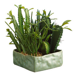 Silk Plants Direct - Silk Plants Direct Cactus Garden (Pack of 2) - Silk Plants Direct specializes in manufacturing, design and supply of the most life-like, premium quality artificial plants, trees, flowers, arrangements, topiaries and containers for home, office and commercial use. Our Cactus Garden includes the following:
