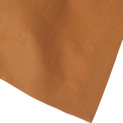 Huddleson Linens - India Gold Linen Napkin (Set of Four) - Get a rich look for every meal with a set of golden linen napkins. Use them for every meal and then simply toss them in the washing machine for easy cleaning. They're a timeless addition to your dining room or kitchen table.