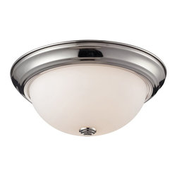 Z-Lite - Z-Lite Athena Ceiling Light X-2F8012 - Simple yet clean lines combined with a chrome finish and a matte opal shade give this dual light Ceiling Light lamp a sleek appearance.