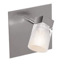 Access Lighting - Access Lighting 52141 Single Light Down Lighting Wall Sconce from the Ryan Colle - Single light down lighting wall sconce featuring inner frosted crystal glassRequires 1 40w G-9 Base Halogen Bulb (Not Included)