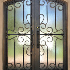 Mediterranean Front Doors by Colletti Design Iron Doors