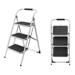 Coleman Living - CL 3 Step Steel Ladder - CL 3-Step Steel Ladder.  White.  This item cannot be shipped to APO/FPO addresses. Please accept our apologies.