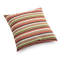 ZUO - Hamster Outdoor Pillow - Small - Earthy stripes warm up the Hamster Pillow. Water resistant fabric makes it perfect for the outdoors. Toss by the fire pit or under a tree with a blanket for a picnic. Comes in small or large.