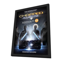 Chopped (TV) 11 x 17 TV Poster - Style A - in Deluxe Wood Frame - Chopped (TV) 11 x 17 TV Poster - Style A - in Deluxe Wood Frame.  Amazing movie poster, comes ready to hang, 11 x 17 inches poster size, and 13 x 19 inches in total size framed. Cast: Marc Murphy