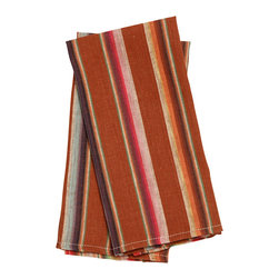 Birdkage - Dune Tea Towels, Set of 2 - Turn every day into a fiesta with the bold and spicy stripes of these tea towels. Hang them in your kitchen, line a tray of margaritas or use them as oversize napkins for a muy caliente tablescape. In cotton with contrasting topstitching, they're sold in sets of two to tango.