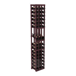 3 Column Display Row Cellar Kit in Pine with Burgundy Stain - Make your best vintage the focal point of your wine cellar. High-reveal display rows create a more intimate setting for avid collectors' wine cellars. Our wine cellar kits are constructed to industry-leading standards. You'll be satisfied. We guarantee it.