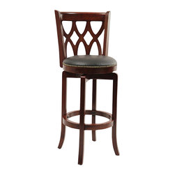 "Boraam - Boraam Cathedral 29"" Swivel Bar Stool in Dark Cherry - Boraam - Bar Stools - 40329"