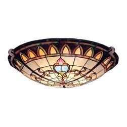 Kichler Lighting - Kichler Lighting 69041 Art Glass Bronze Flush Mount - Kichler Lighting 69041 Art Glass Bronze Flush Mount
