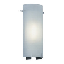 Designers Fountain - Designers Fountain 6041-CH 1 Light Wall Sconce with Etched Glass - Features: