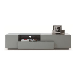 JNM furniture - Modern Tv Stand Tv 015 in Gray Lacquer - This Entertainment TV Center  offers a contemporary look with a clean uncluttered
